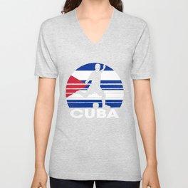 Cuba Soccer Football CUB Unisex V-Neck