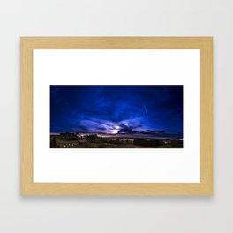 country side sunset Framed Art Print