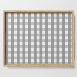 Gray Checkerboard Gingham Serving Tray