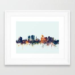 Christchurch New Zealand Skyline Framed Art Print