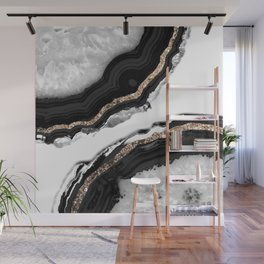 Agate Glitter Glam #2 #gem #decor #art #society6 Wall Mural
