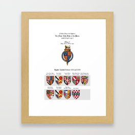 QUEEN MARY I - Roll of arms of the Knights of the Garter installed during her reign Framed Art Print