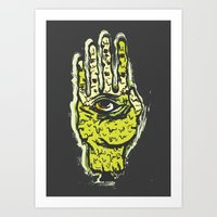 zombie Art Prints featuring Zombie by Mila Spasova