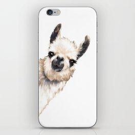 Sneaky Llama White iPhone Skin