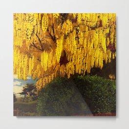 Classical Masterpiece 'Laburnum' by Stanley Spencer Metal Print