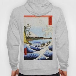 Sea and waves at Satta  Suruga Hiroshige Hoody