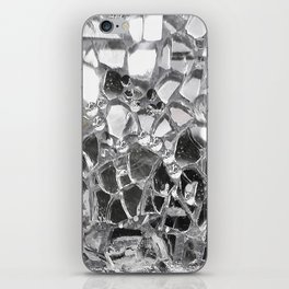 Silver Mirrored Mosaic iPhone Skin