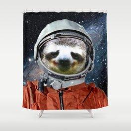 Astronaut Sloth Shower Curtain