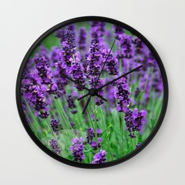 Lavender colors... Wall Clock