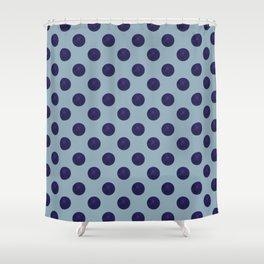 Circle World Deep Space Blue Shower Curtain
