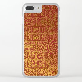 Antique Book Cover Clear iPhone Case