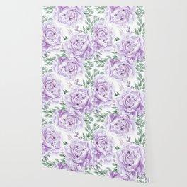 Pretty Purple Flower Garden Wallpaper