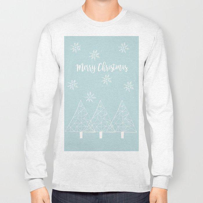 Merry Christmas Mint Long Sleeve T-shirt
