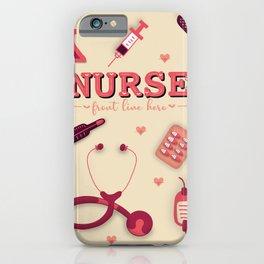 Nurse front line hero iPhone Case