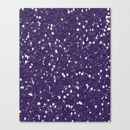 Purple Glitter I Canvas Print