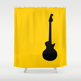 Simple Guitar Shower Curtain