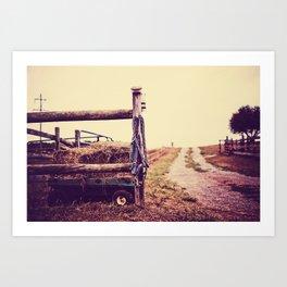 Road Country Farm Art Print