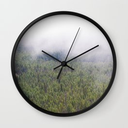 Forest From Above Wall Clock