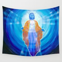 jesus Wall Tapestries featuring Jesus by Walter Zettl