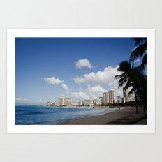 Waikiki Beach 2 Art Print