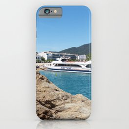 Spain Spa town Catalonia, Costa Brava, province of Girona Riverboat Coast Cities Resorts iPhone Case