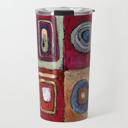 Buffet - abstract multi-colored pastel drawing. Good painting for a modern interior Travel Mug