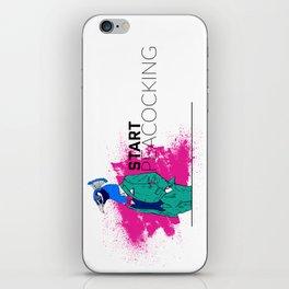 Start Peacocking iPhone Skin