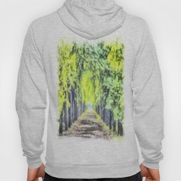 Forest Path Watercolour Art Hoody