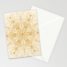 Sepia Snowflake Doodle Stationery Cards
