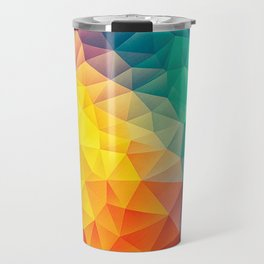 Abstract Multi Color Cubizm Painting Travel Mug