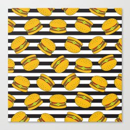 Burger Stripes By Everett Co Canvas Print