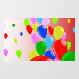 Fly Away Balloons Rug