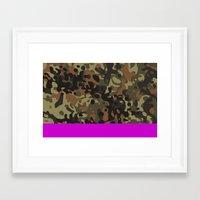 david fleck Framed Art Prints featuring Magenta Fleck Tarn Camo by Derek Boman