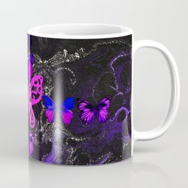 Purple Fire Cross Coffee Mug