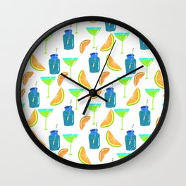 Cocktail party! Seamless pattern. Wall Clock
