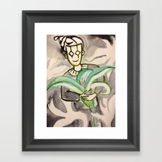 harlequin with lily Framed Art Print