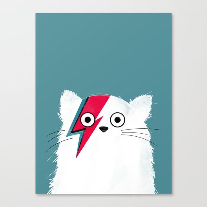 Cat Hero White Leinwanddruck
