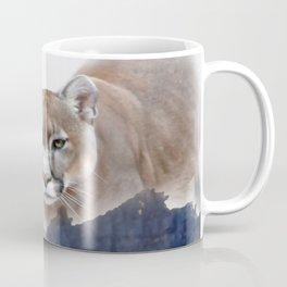 Mountain lion and mountains Coffee Mug