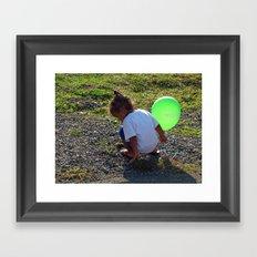 Balloon Girl II Framed Art Print