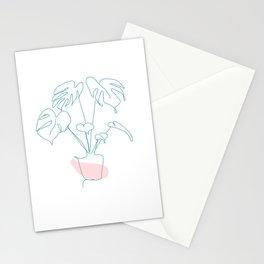 Minimal Monstera Stationery Cards