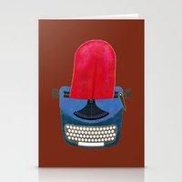 typewriter Stationery Cards featuring Typewriter by gunberk