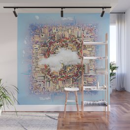 Cube World Wall Mural
