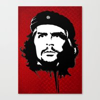 che Canvas Prints featuring CHE by favewavearts