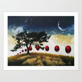 March of the Red Balloons #8 Art Print