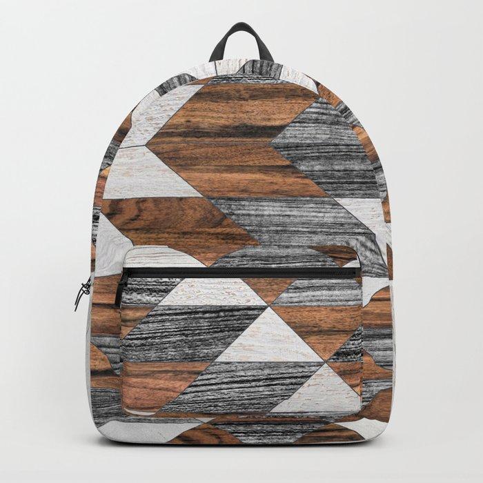 Urban Tribal Pattern No.12 - Aztec - Wood Backpack