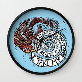 Take Your Desires for Reality Wall Clock