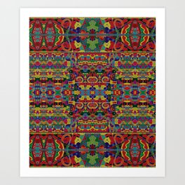 Cloisonne Color Joy Art Print