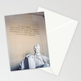 Abraham Lincoln Statue at the Lincoln Memorial Stationery Cards