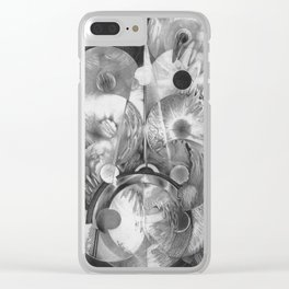 Black and white phosphene light Clear iPhone Case
