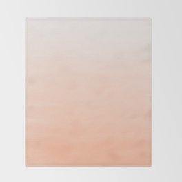 Modern coral watercolor paint brushstrokes ombre pattern Throw Blanket